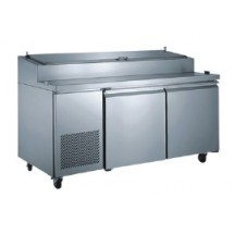 Omcan (FMA) PICL2 Two section Refrigerated Pizza Prep Table