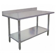 Omcan (FMA) WTSB4-3060 60''W x 30''D w/ 4'' backsplash Work Table