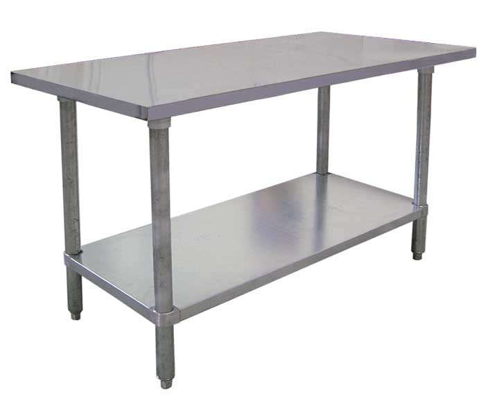 Omcan FMA WTSNSS X Work Table - Stainless steel commercial work table 30 x 72