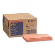 """Tork Red Antimicrobial Foodservice Cloths, 13"""" x 24"""", 150/Carton"""