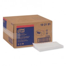 """Tork White Antimicrobial Foodservice Cloths, 13"""" x 24"""", 150/Carton"""