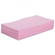 """Boardwalk Foodservice Wipers, Pink/White, 12"""" x 21"""", 200/Carton"""
