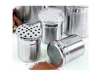 Fox Run 1030 Stainless Steel Dredge / Shaker with Small Holes 4 oz.