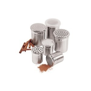 Fox Run 1031 Stainless Steel Large Hole Dredge / Shaker 4 oz.