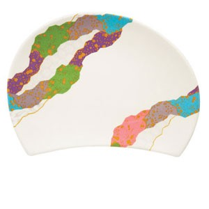 GET Enterprises 137-22-CO Contemporary Melamine Half Moon Plate - 1 doz
