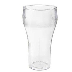 GET Enterprises 7716-1-CL Clear Plastic Bell Soda Tumbler 16 oz. - 6 doz