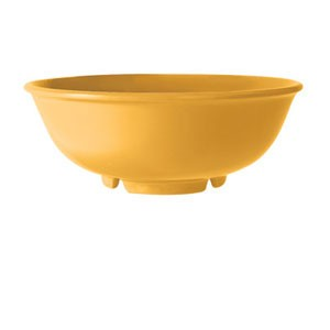 GET Enterprise B-24-TY Diamond Mardi Gras Tropical Yellow Melamine Bowl 24 oz. - 1 doz