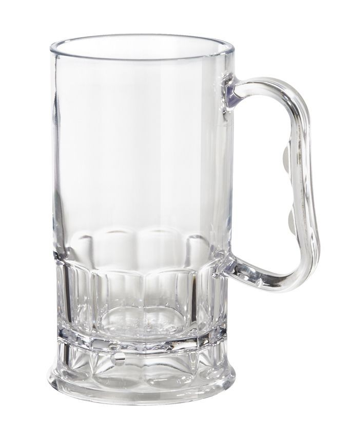 GET Enterprises 00082-1-SAN-CL SAN Plastic Beer Mug 10 oz. - 2 doz
