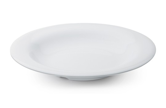 GET Enterprises B-139-DW Diamond White Melamine Bowl 13 oz. - 2 doz