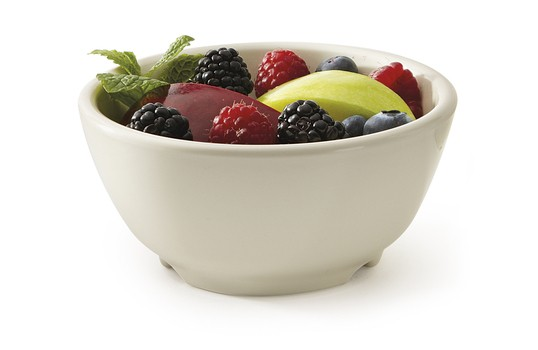 GET Enterprises B-45-DI Diamond Ivory Melamine Bowl 10 oz. - 2 doz