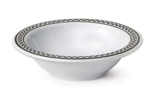 GET Enterprises B-454-X Diamond Chexers Melamine Bowl 4-1/2 oz. - 4 doz