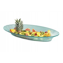 GET Enterprises HI-2034-JA Cache Polycarbonate Jade Oval Bowl 6 Qt. - 3 pcs