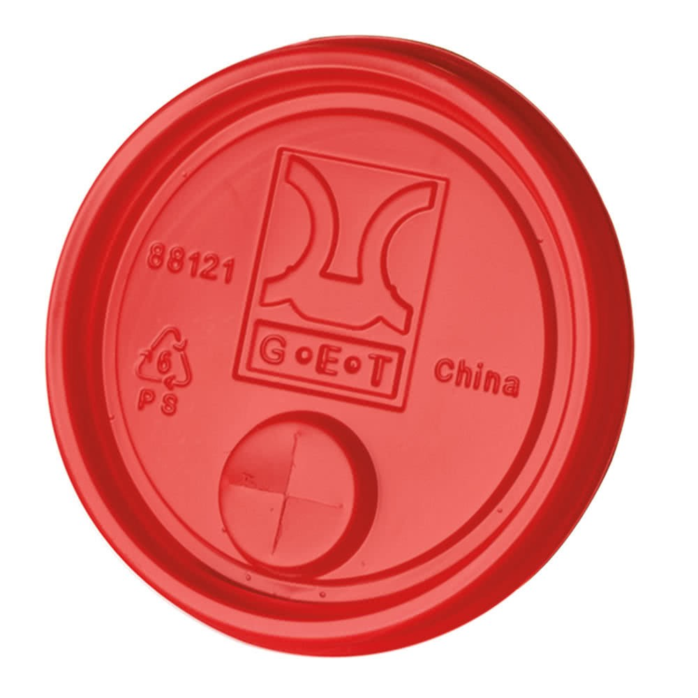GET Enterprises LID-88121-R Disposable Red Plastic Lid - 2000 pcs