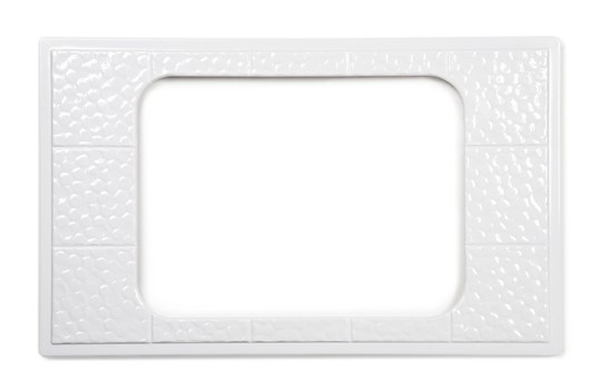 GET Enterprises ML-174 Melamine Full Size Adapter Plate with Cut Out for ML-178