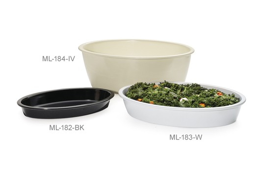 GET Enterprises ML-184 Oval Melamine Casserole Dish 9 Qt. - 3 pcs