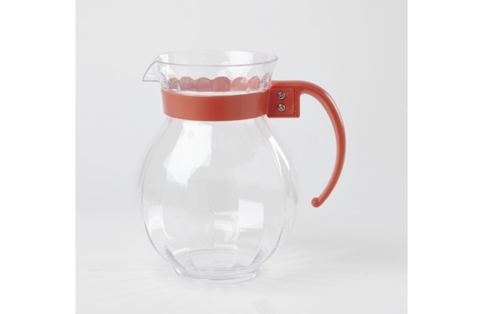 GET Enterprises P-4091-PC Polycarbonate Tahiti Pitcher with Handle 90 oz. - 1 doz