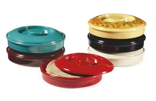 GET Enterprise  TS-800-R Red Tortilla Server with Lid  7.75