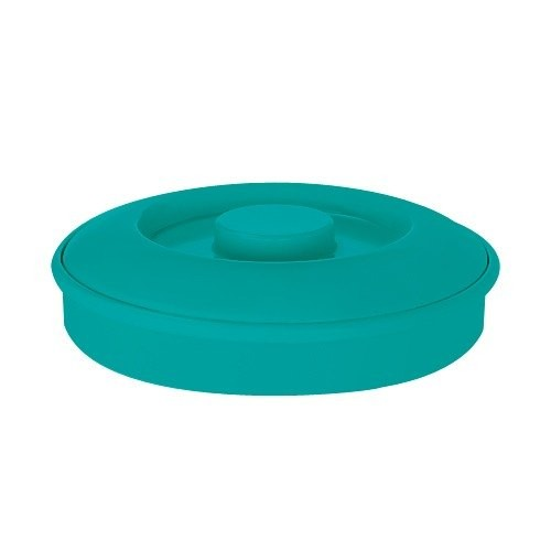 "GET Enterprises TS-800-TE Teal Tortilla Server with Lid 7-3/4"" - 2 doz"