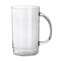 GET Enterprises 00083-1-SAN-CL SAN Plastic Beer Mug 20 oz. - 2 doz