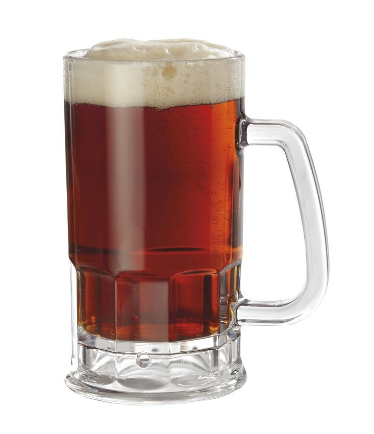 GET Enterprises 00085-1-SAN-CL SAN Plastic Beer Mug 20 oz. - 1 doz