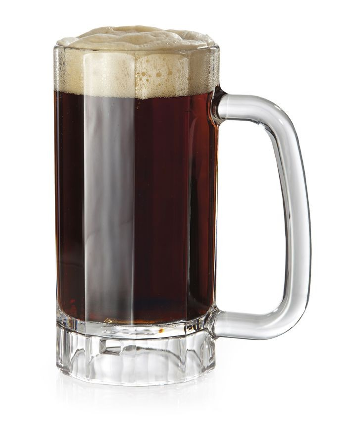GET Enterprises 00086-1-SAN-CL SAN Plastic Beer Mug 16 oz. - 2 doz