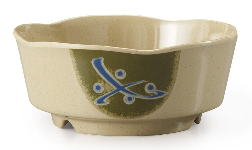 GET Enterprises 0163-TD Japanese Traditional Scalloped Edge Bowl 16 oz.