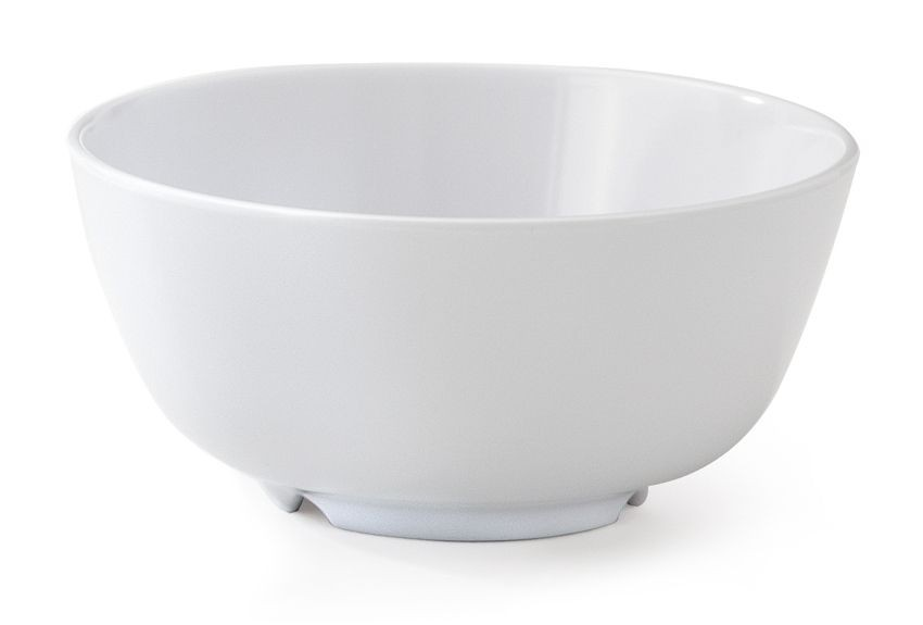 GET Enterprises 0172-W Water Lily White Melamine Bowl 12 oz.