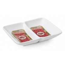 GET Enterprises 037-L Longevity Two Compartment Sauce Dish 1 oz.