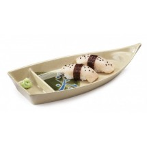 GET Enterprises 136-TD Japanese Traditional Melamine Boat Plate 10-1/2""