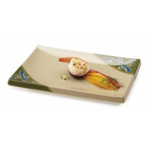 GET Enterprises 138-TD Japanese Traditional Melamine Rectangular Plate 8""