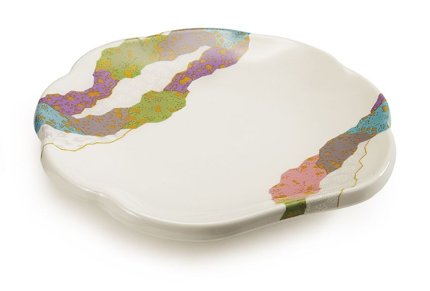 "GET Enterprises 139-CO Contemporary Scallop Shape Plate 8"" - 1 doz"