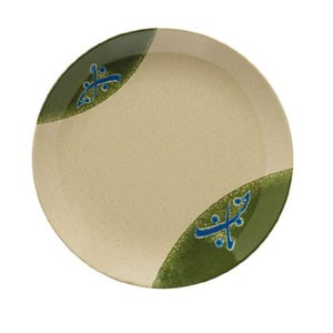 GET Enterprises 207-5-TD Japanese Traditional Melamine Round Plate 10-1/2""