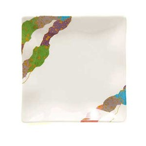 "GET Enterprises 252-10-CO Contemporary Melamine Petite Square Plate 4"" x 4""- 2 doz"