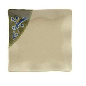 "GET Enterprises 252-10-TD Japanese Traditional Melamine Petite Square Plate 4"" x 4"" - 2 doz"