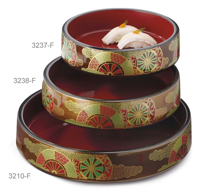 GET Enterprises 3237-F Decorative Fuji Sushi Box 8-1/4""
