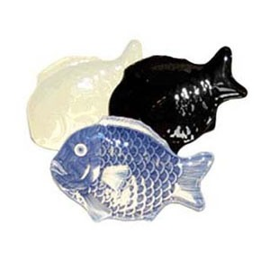 GET Enterprise  370-16-BK Black Creative Table Fish Platter 16