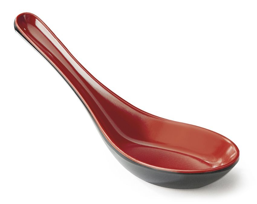 GET Enterprises 6026-RB Fuji Melamine Soup Spoon 0.8 oz.