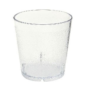 GET Enterprises 6610-1-6-CL SAN Plastic Clear Textured Tumbler 10 oz. - 6 doz