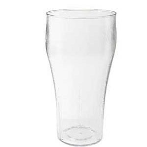 GET Enterprises 7720-1-CL Clear Plastic Bell Soda Tumbler 20 oz. - 6 doz