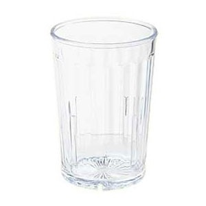 GET Enterprises 8805-1-CL Clear SAN Plastic Spektrum Tumbler 5 oz. - 6 doz