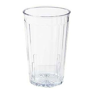 GET Enterprises 8808-1-CL Clear SAN Plastic Spektrum Tumbler 8 oz. - 6 doz