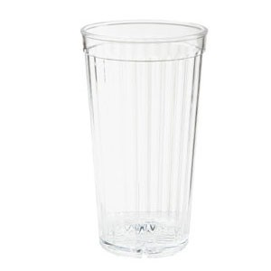 GET Enterprises 8823-CL Clear SAN Plastic Spektrum Tumbler 22 oz. - 6 doz