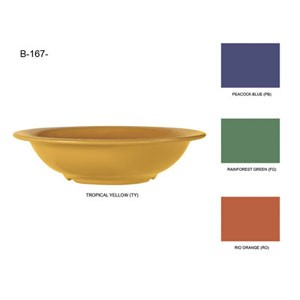 GET Enterprises B-167-MIX Diamond Mardi Gras Assorted Colors Melamine Bowl 16 oz. - 2 doz