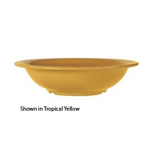 GET Enterprises B-167-TY Diamond Mardi Gras Tropical Yellow Melamine Bowl 16 oz. - 2 doz