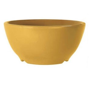 GET Enterprises B-45-TY Diamond Mardi Gras Tropical Yellow Melamine Bowl 10 oz. - 2 doz