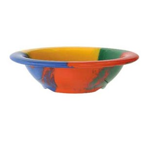 GET Enterprises B-454-CE Diamond Celebration Melamine Bowl 4-1/2 oz. - 4 doz