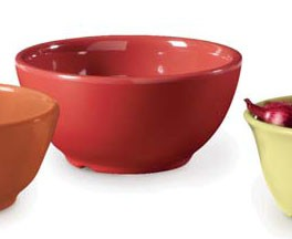 GET Enterprises B-525-CR Diamond Harvest Cranberry Melamine Bowl 16 oz. - 2 doz
