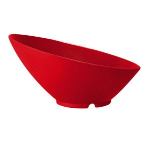 GET Enterprises B-788-RSP Red Sensation Cascading Melamine Bowl 16 oz. - 1/2 doz