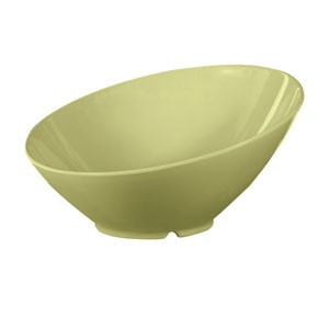 GET Enterprises B-790-AV Diamond Harvest Avocado Cascading Melamine Bowl 1.9 Qt. - 1/2 doz
