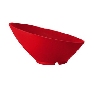 GET Enterprises B-790-RSP Red Sensation Cascading Melamine Bowl 1.9 Qt. - 1/2 doz